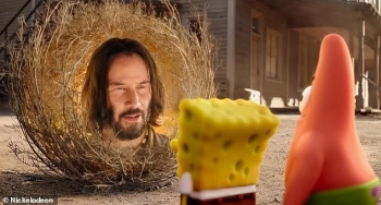 "Keanu Reeves në rolin e Sage në filmin ""Sponge Bob Movie: Sponge On The Run"""